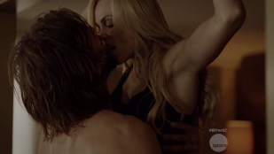 Laura Vandervoort hot sex and Kaitlyn Leeb hot sex in lingerie - Bitten (2015) s2e1 hd720p