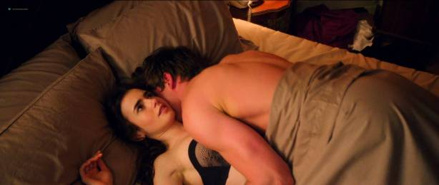 Lily Collins hot and cute in lingerie - Love Rosie (2014) HD1080p BluRay (7)