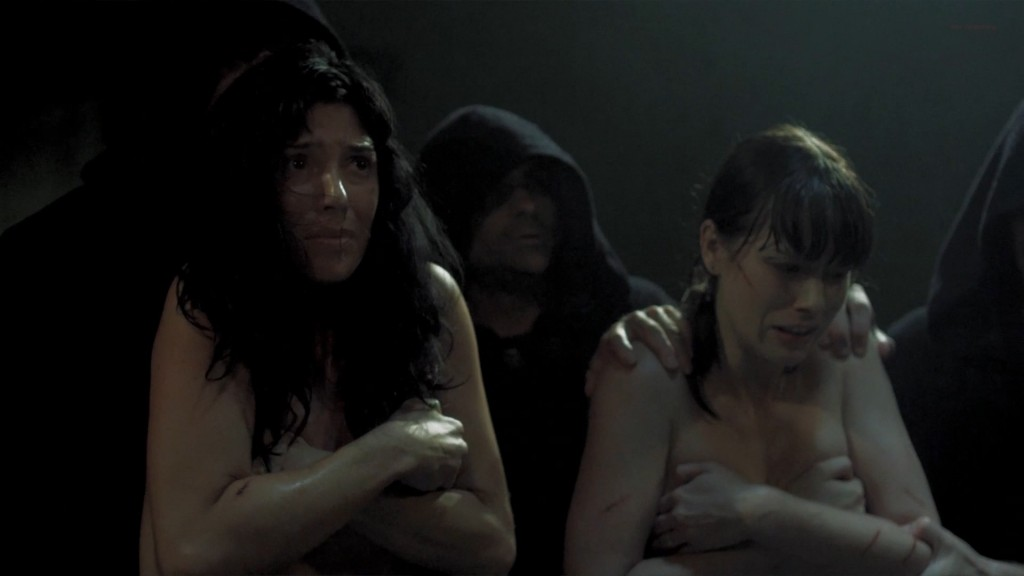 Cindy Sampson nude side boob in shower Meghan Heffern hot - The Shrine (2010) hd1080p (6)