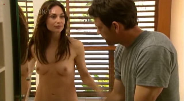 Claire Forlani nude topless in the shower - The Diplomat (2009) (6)