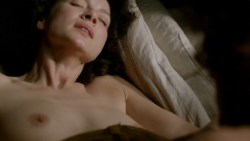 Caitriona Balfe nude topless and sex Lotte Verbeek nude topless - Outlander (2015) s1e10 hd720p (1)