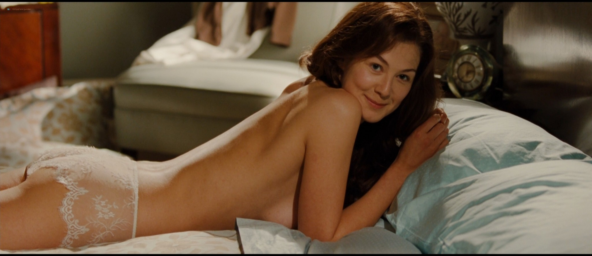 Rosamund Pike hot butt and see-through in lingerie - Barney's Version (2010) HD 1080p (4)