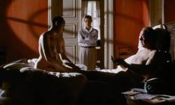 Toni Collette nude bush labia Polly Walker nude full frontal hand job others nude too - 8½ Women (1999) (8)