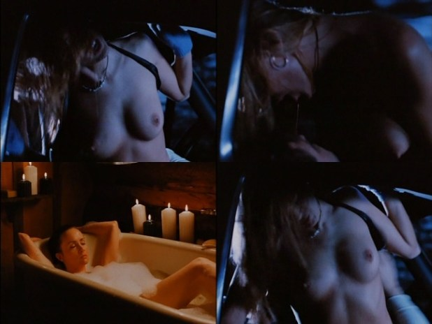 Alina Thompson nude topless and sex in the car - Dead Cold (1996)