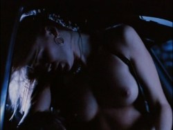 Alina Thompson nude topless and sex in the car - Dead Cold (1996) (2)