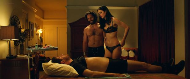 Krysten Ritter hot and sexy in black lingerie - Search Party (2014) BluRay HD 1080p (8)