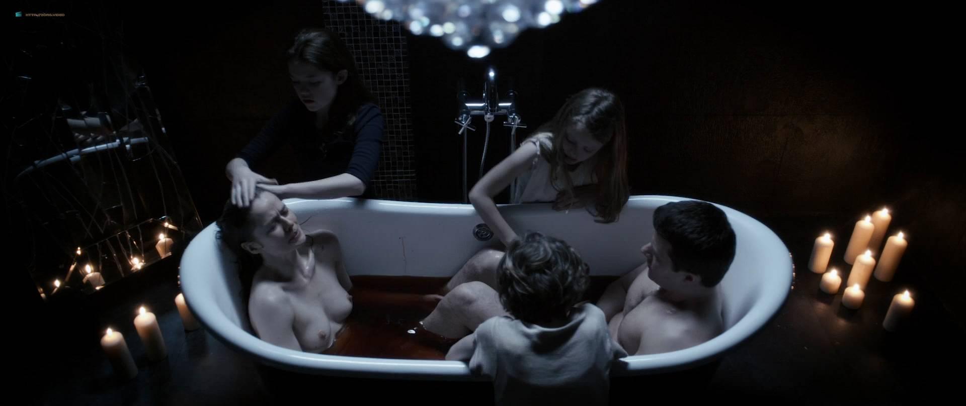 Marcella Plunkett nude topless in bath - Dark Touch (2013) HD 1080p BluRay (6)