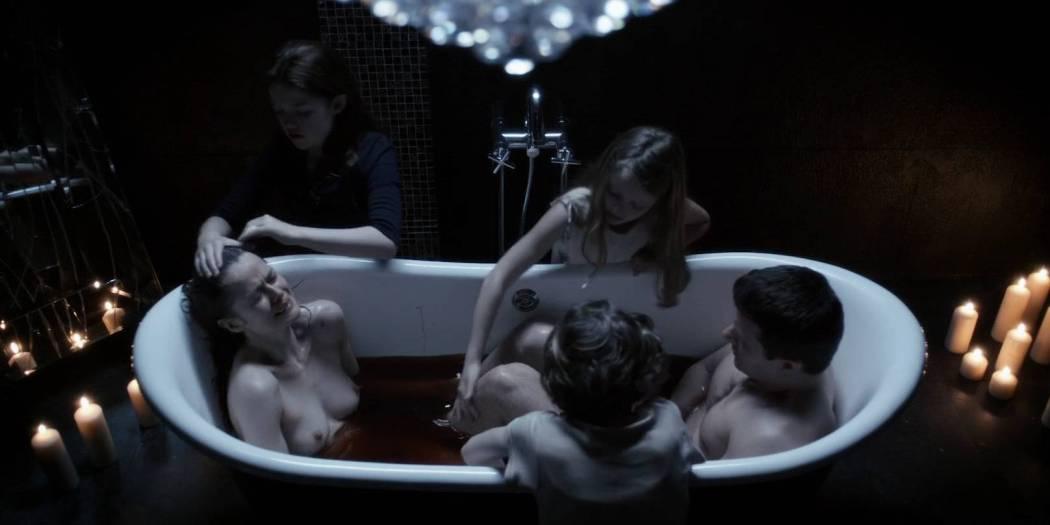 Marcella Plunkett nude topless in bath - Dark Touch (2013) HD 1080p BluRay (5)