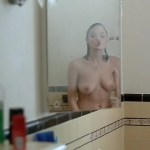 Angelina Jolie nude topless in the shower – Mojave Moon (1996)