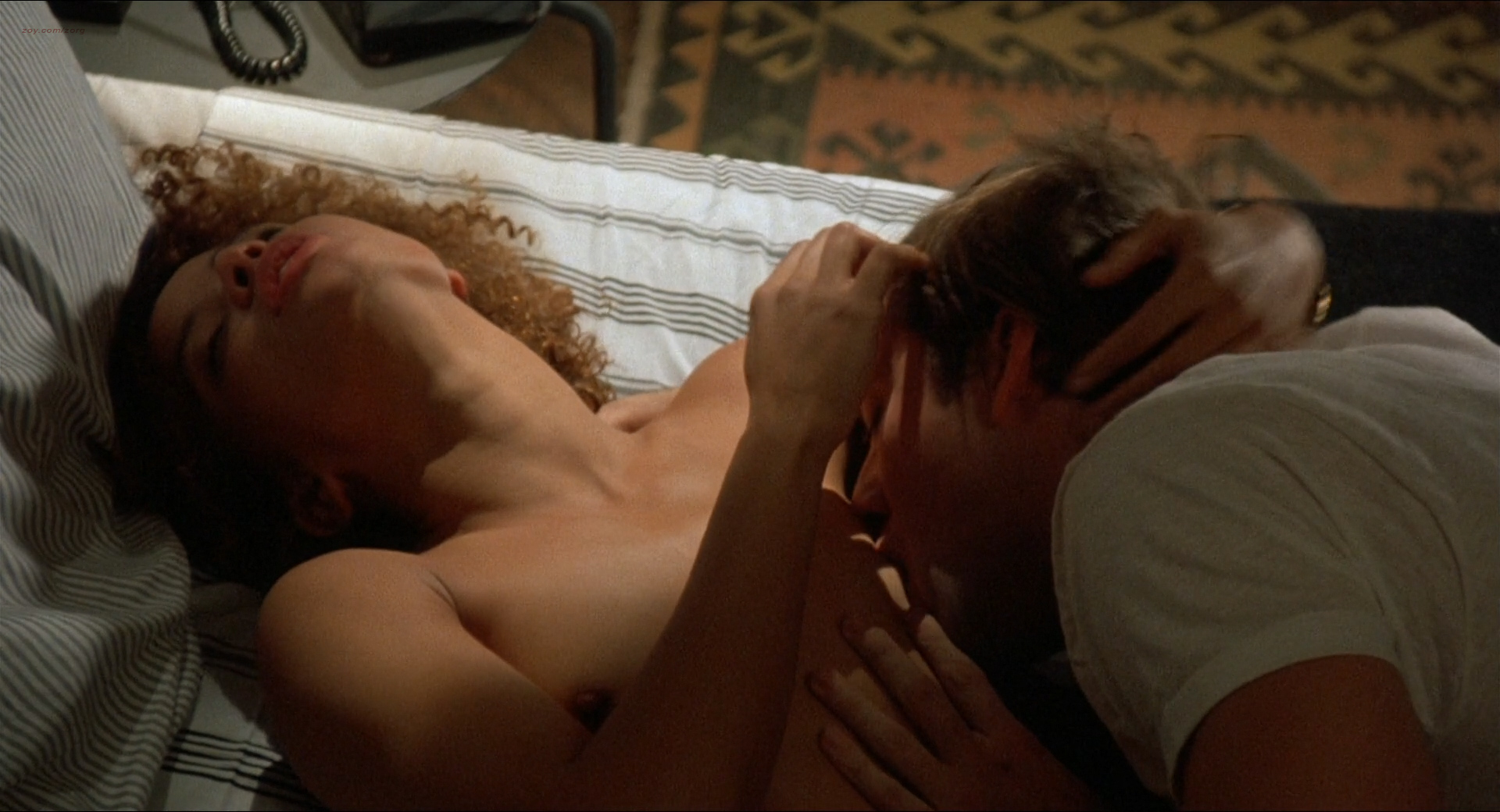 Jennifer Beals nude but covered and Kasi Lemmons nude topless - Vampire's Kiss (1989) hd1080p BluRay (6)