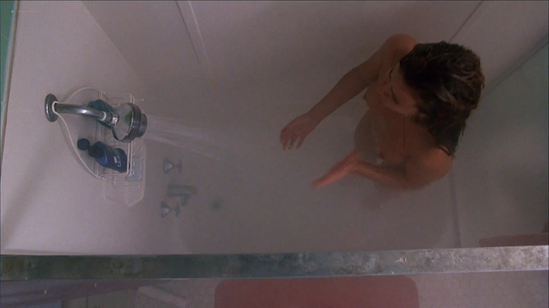 Tawny Kitaen nude bush and topless in the shower - Witchboard (1985) HD 1080p (10)
