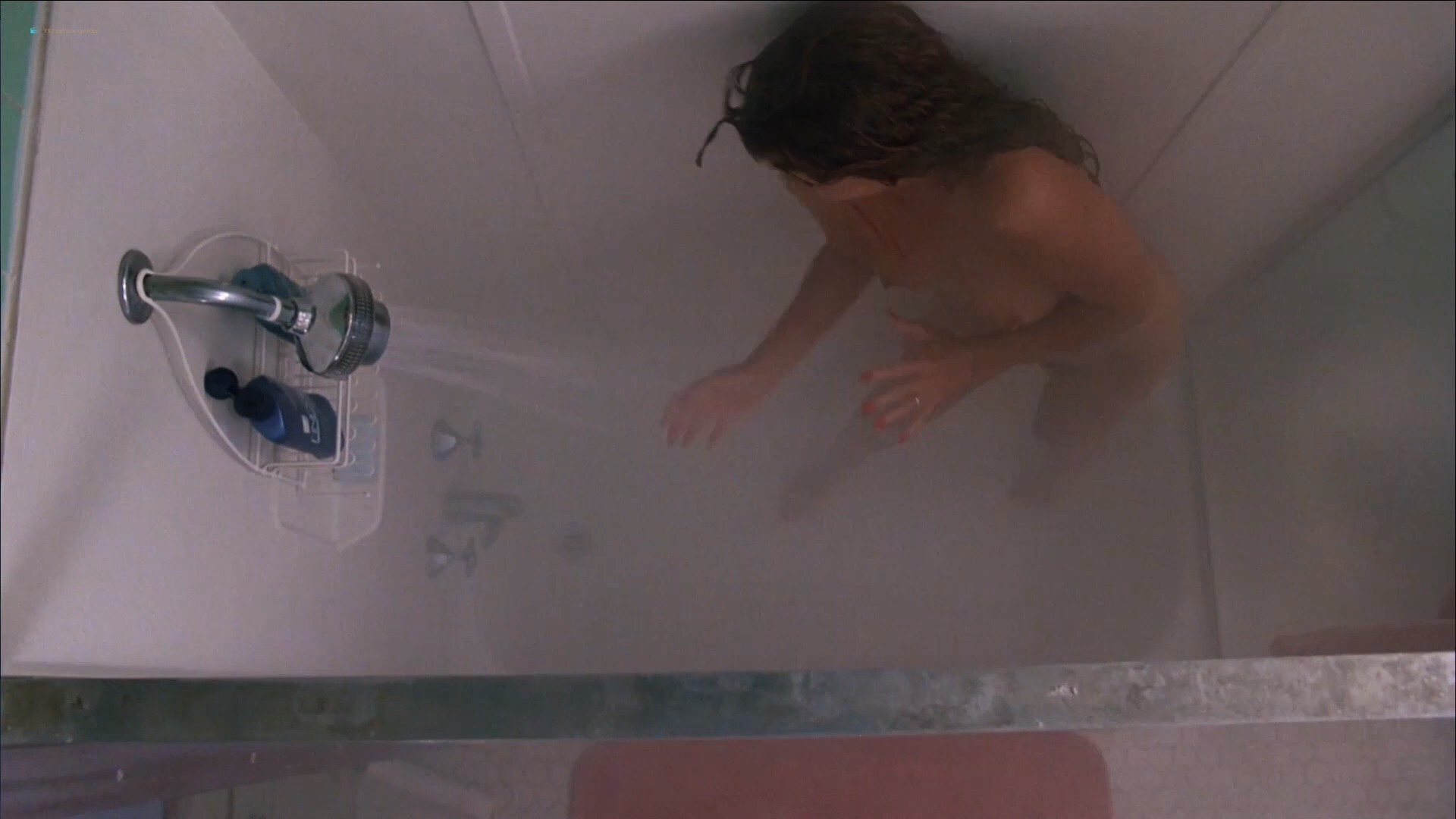 Tawny Kitaen nude bush and topless in the shower - Witchboard (1985) HD 1080p (8)