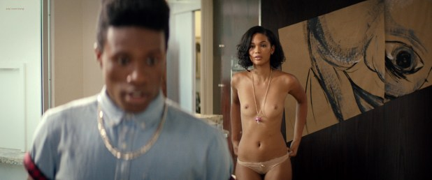 Chanel Iman nude topless - Dope (2015) HD 720-1080p BluRay (5)