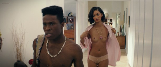 Chanel Iman nude topless - Dope (2015) HD 720-1080p BluRay (16)