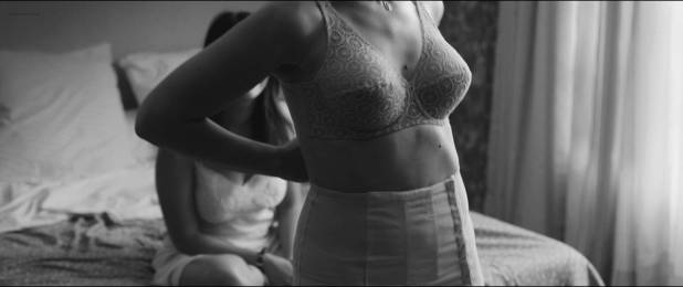 Esther Garrel nude brief side boob and Leïla Bekhti hot - L'astragale (FR-2015) HD 1080p (2)