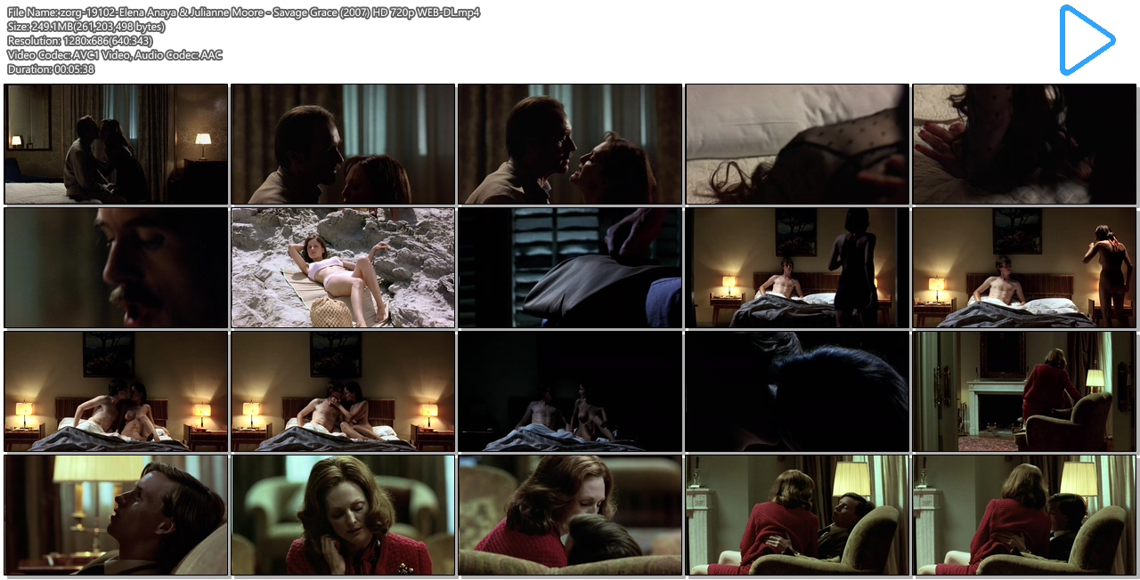 Elena Anaya nude bush and boobs and Julianne Moore hot sex, oral ... - Savage Grace (2007) HD 720p WEB-DL (11)