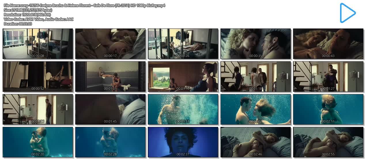 Evelyne Brochu nude bush and sex Hélène Florent nude brief topless - Café de Flore (FR-CA-2011) HD 1080p BluRay (23)