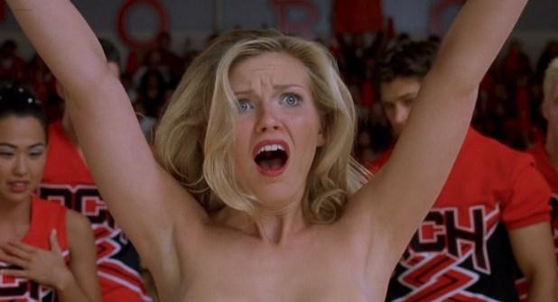 Kirsten Dunst hot bra and panties Eliza Dushku hot bikini - Bring It On 2000 HD 1080p BluRay 6