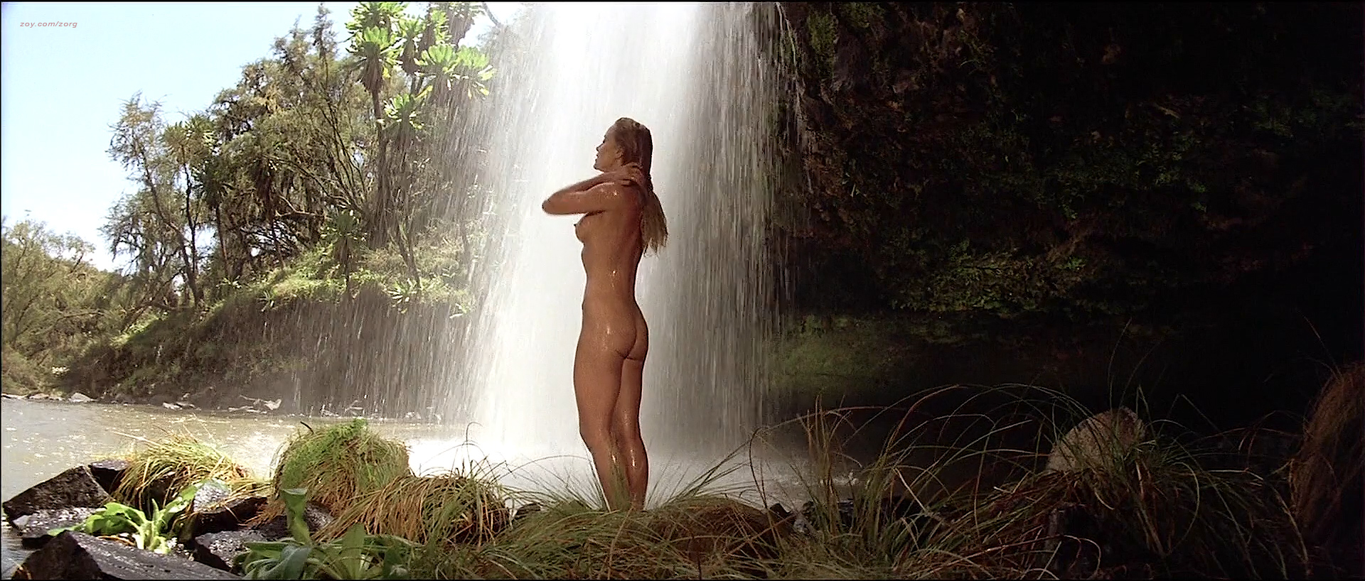 Tanya Roberts Nude Topless Butt And France Zobda Nude Butt -7884