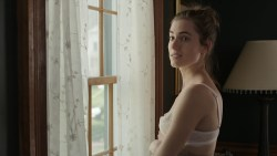 Allison Williams hot in bra and cute and Lena Dunham nude sex in the car - Girls (2016) S05E01 HDTV 720p (7)