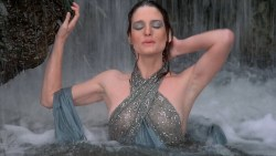 Gina Calabrese nude bush, full frontal and Leslie Wing hot see-through - The Dungeonmaster (1984) HD 1080p (14)
