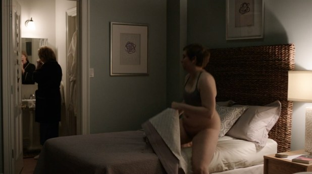 Jemima Kirke nude sex Lena Dunham and Lena Hall lesbian bush - Girls (2016) s5e5 HD 720p (6)