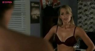 Laura Vandervoort hot in bra and panties - V (2009) S1E3 (6)