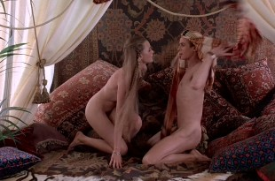 Michelle Phillips nude boobs and bush and Penelope Milford nude too – Valentino (1977) HD 1080p BluRay