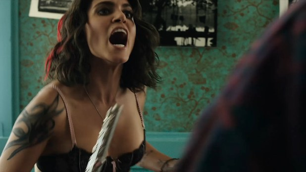 Nikki Reed hot and sexy in see through bra - Murder of a Cat (2014) HD 1080p BluRay (10)