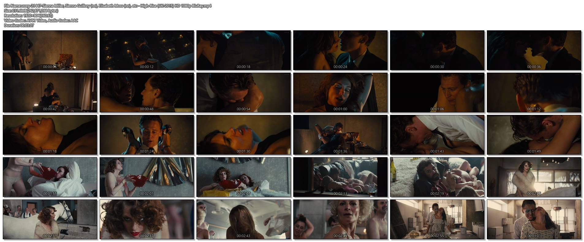 Sienna Miller nude boobs and hot sex - High-Rise (2015) HD 1080p (1)