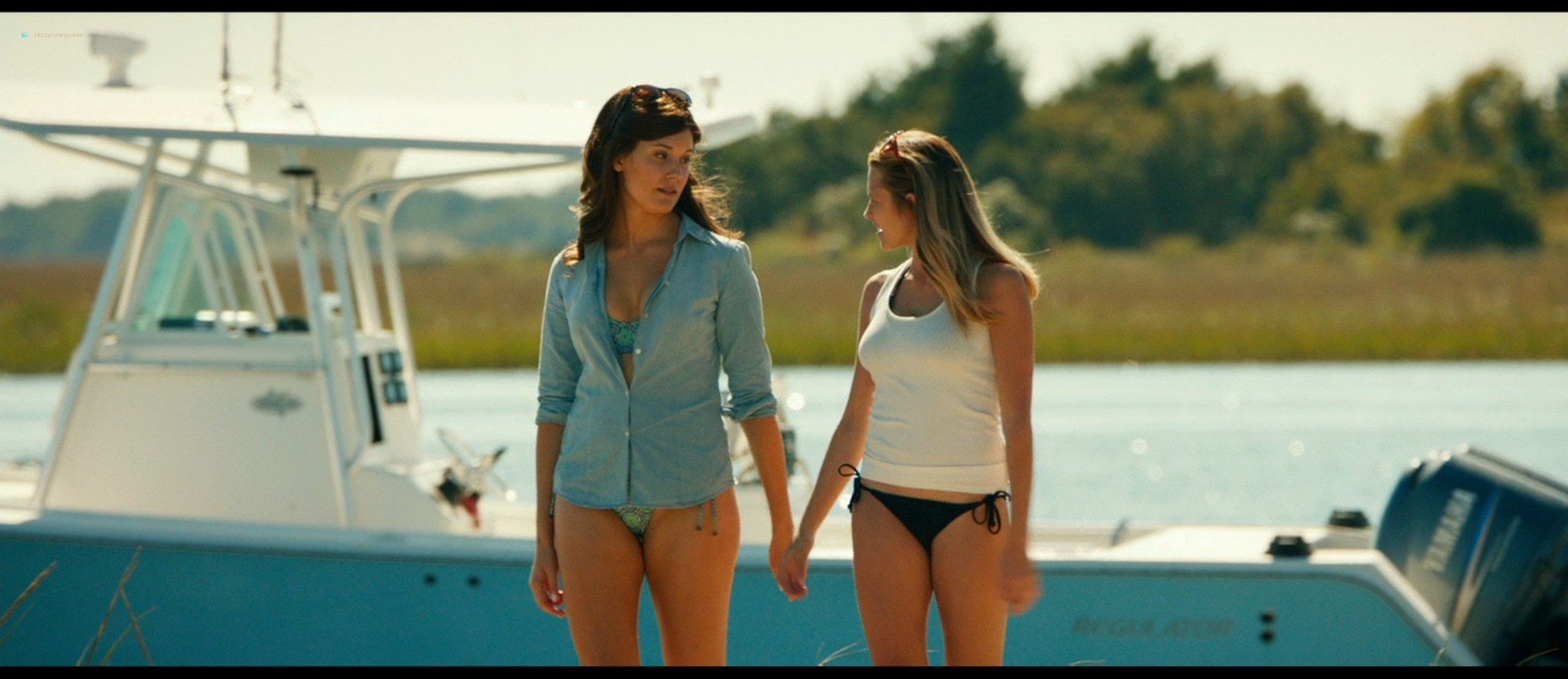 Teresa Palmer hot bikini and Maggie Grace, Alexandra Daddario hot too - The Choice (2016) HD 1080p BluRay (11)