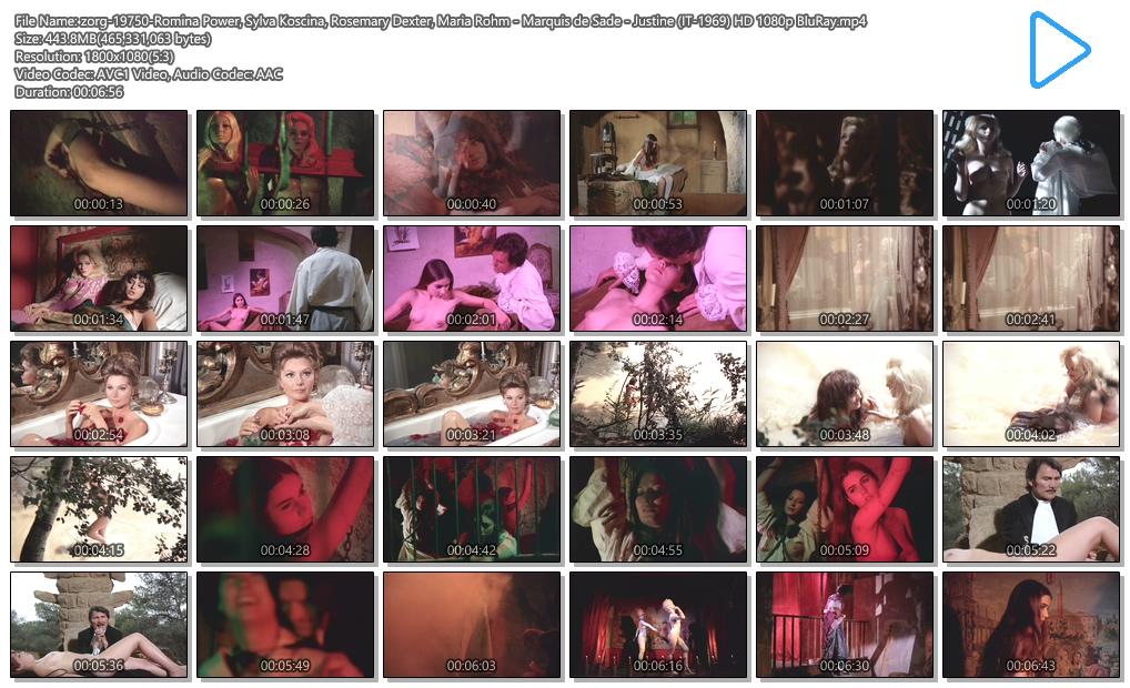 Romina Power nude toplees, Sylva Koscina nude Rosemary Dexter and Maria Rohm nude bush - Marquis de Sade - Justine (IT-1969) HD 1080p BluRay (3)