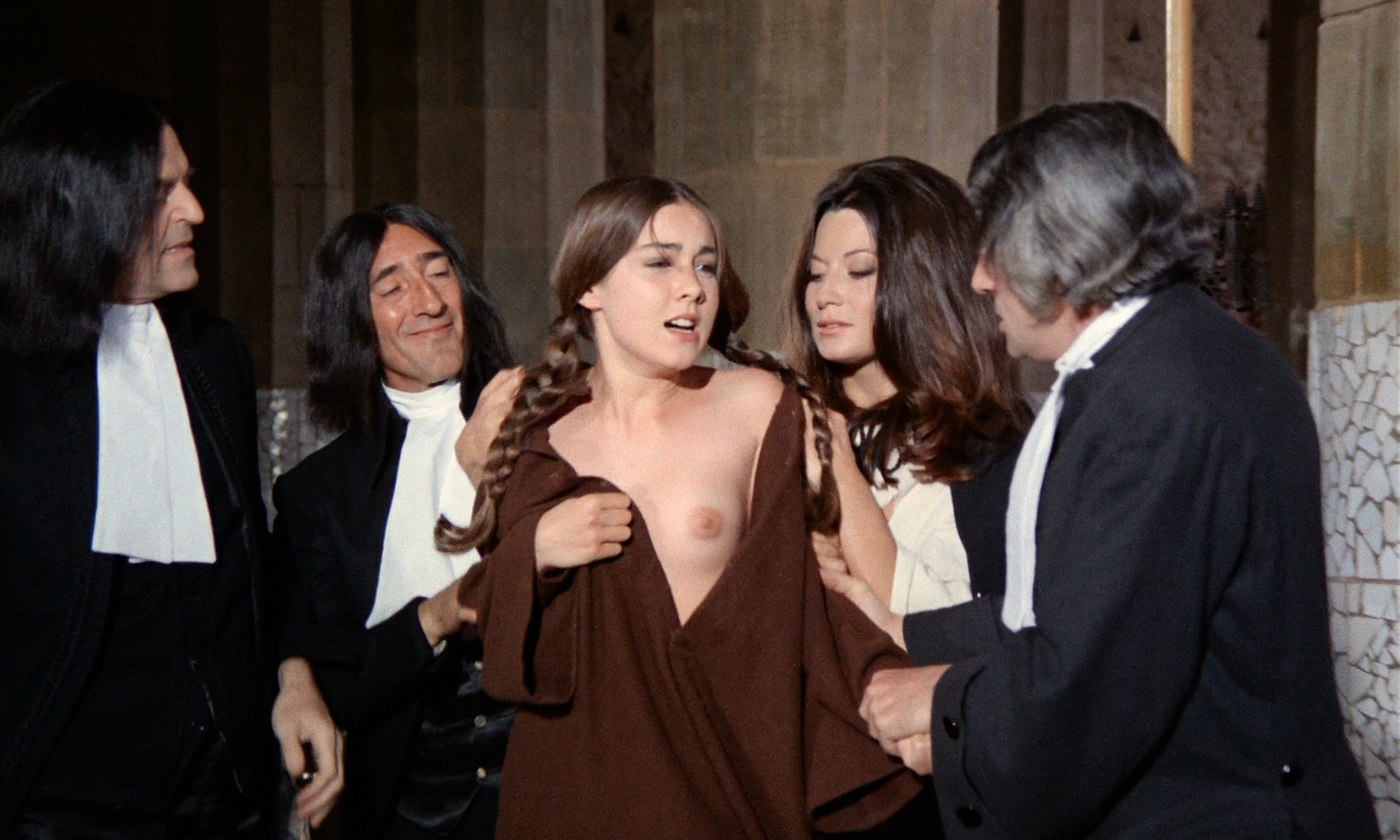 Romina Power nude toplees, Sylva Koscina nude Rosemary Dexter and Maria Rohm nude bush - Marquis de Sade - Justine (IT-1969) HD 1080p BluRay (10)