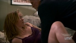 Julia Stiles hot and sexy some sex in lingerie - Blue (2014) s1e1-2 HDTV 720p (14)