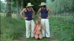 Miou-Miou nude bush, boobs and full frontal with Brigitte Fossey and Isabelle Huppert nude too - Les valseuses (FR-1974) HDTV 720p (4)