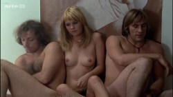 Miou-Miou nude bush, boobs and full frontal with Brigitte Fossey and Isabelle Huppert nude too - Les valseuses (FR-1974) HDTV 720p (9)