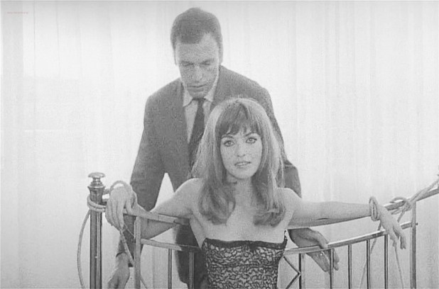 Marie-France Pisier nude but covered Prima Symphony nude - Trans-Europ-Express (1966) (6)