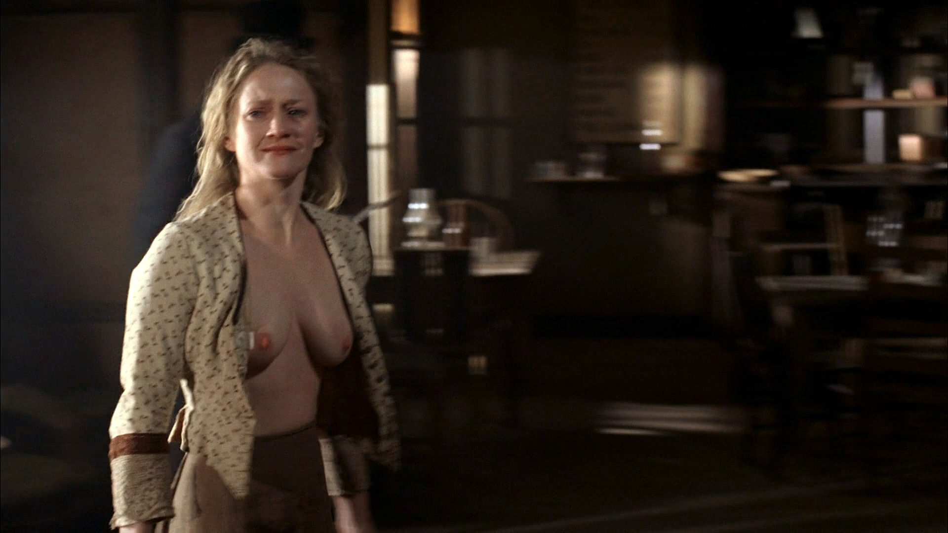 Paula Malcomson nude topless and bush - Deadwood (2006) s3e11HD 1080p (6)