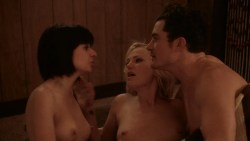 Malin Akerman nude topless and sex and Kate Micucci nude boobs and butt - Easy (2016) s1e6 HD 720p (1)