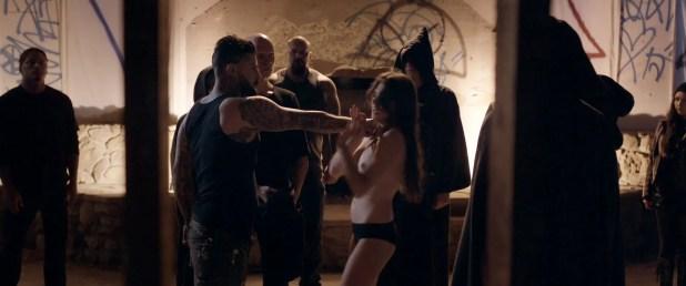 Sophie Dalah nude topless in brief scene - Satanic (2016) HD 1080p (2)