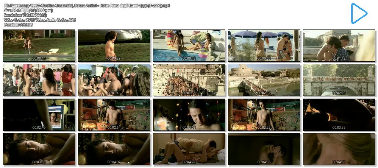 Carolina Crescentini nude butt, boobs and sex Serena Autieri nude - Notte Prima degli Esami Oggi (IT-2007) (16)