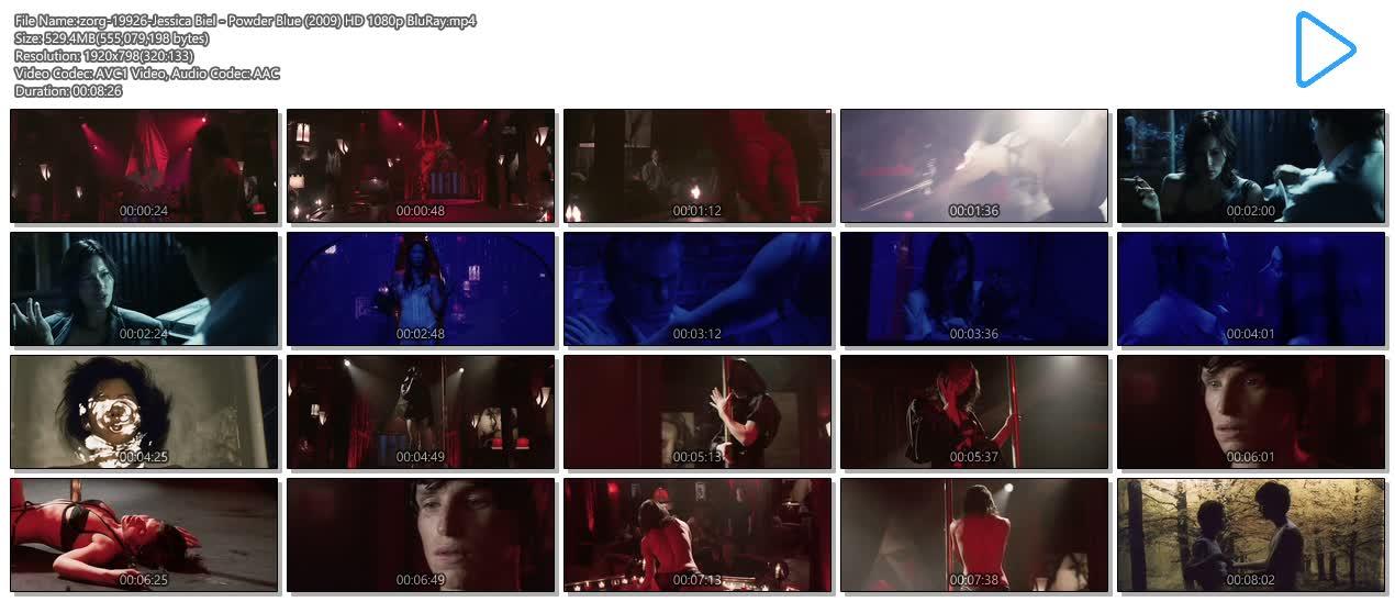 Jessica Biel nude topless ultra hot - Powder Blue (2009) HD 1080p BluRay (14)
