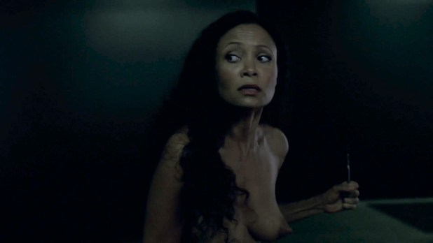 Thandie Newton nude topless and butt - Westworld (2016) s1e2 HD 1080p (4)