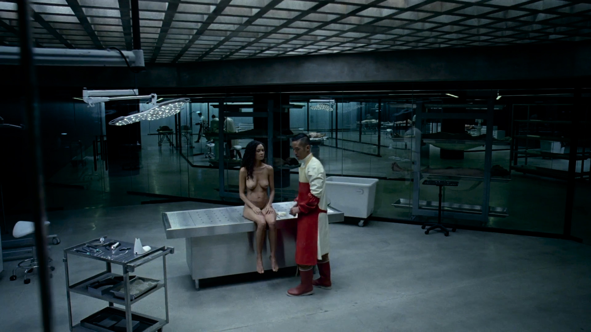 Thandie Newton nude topless and butt - Westworld (2016) s1e6 HD 1080p (3)