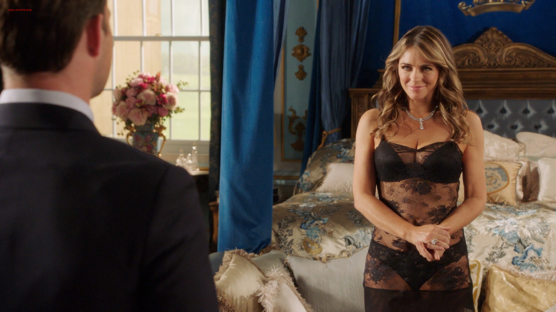 Elizabeth Hurley Hot And Sexy In Lingerie The Royals 2016