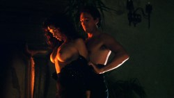 Sherilyn Fenn nude topless and sex Charlie Spradling nude busty - Meridian (1990) hd 1080P BluRay (2)