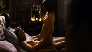 Tuppence Middleton nude sex Freema Agyeman, Doona Bae all nude group sex too - Sense8 (2016) Christmas Special HD 720p (3)