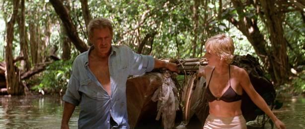 Anne Heche hot, wet bikini and c-true Jacqueline Obradors hot - Six Days Seven Nights (1998) HD1080p WEB (13)