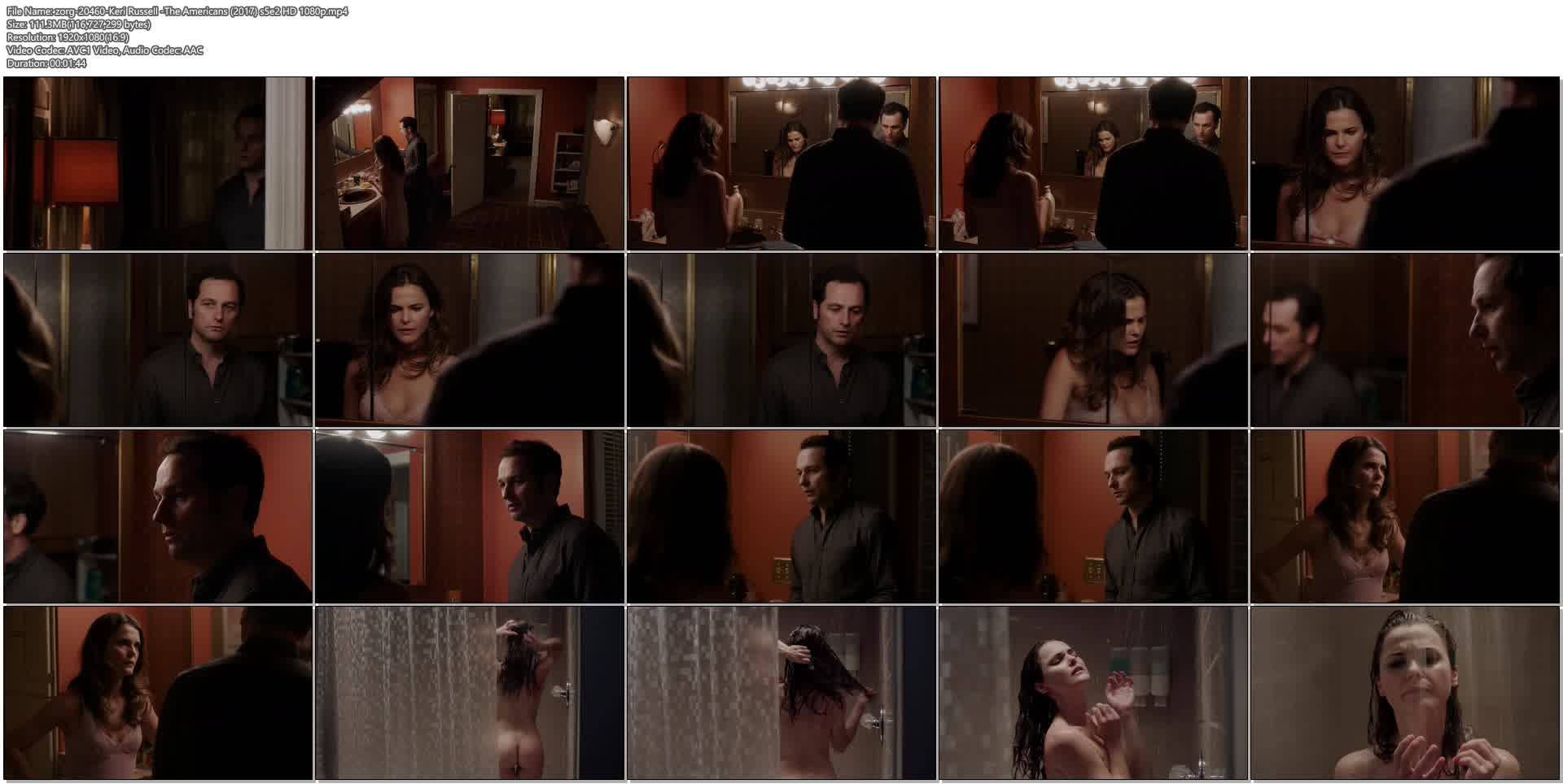 Keri Russell nude butt in the shower -The Americans (2017) s5e2 HD 1080p (7)