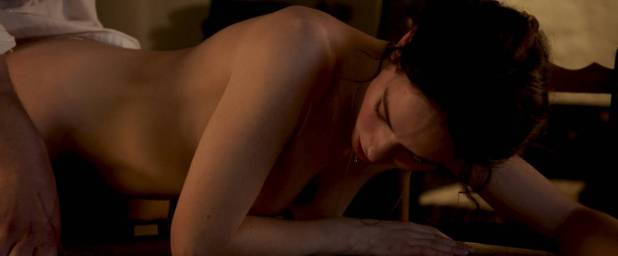 Lily James nude butt, topless and sex - The Exception (2016) HD 1080p WEB (5)
